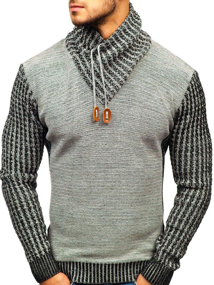 Pulover pentru bărbat gri Bolf 2010