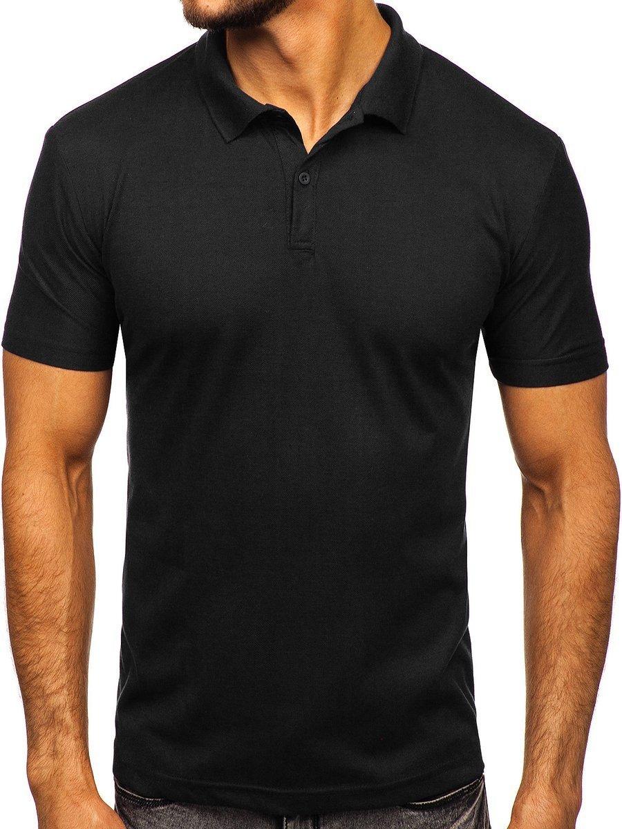Tricou polo bărbați negru Bolf GD01 imagine