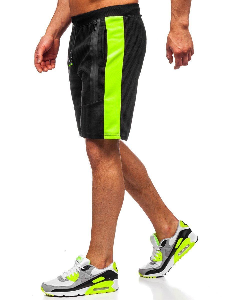 Pantaloni scurți de trening negri bărbați Bolf KS2521 imagine