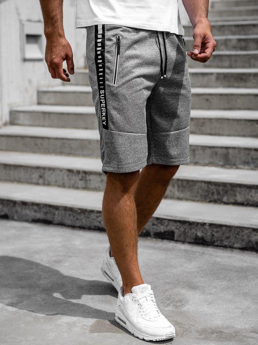 Pantaloni scurți gri bărbați Bolf JX383 imagine