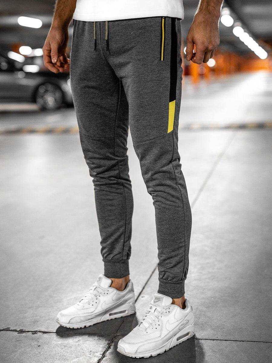 Pantaloni de trening grafit Bolf YLB88007 imagine