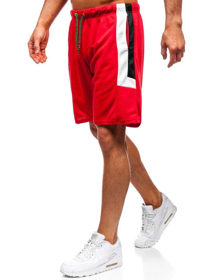Pantaloni scurți de trening bărbați roșii Bolf 81010 imagine