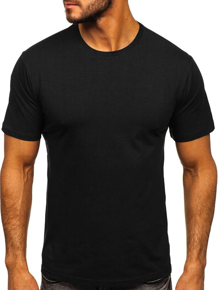 Tricou bărbați negru Bolf 192132 imagine