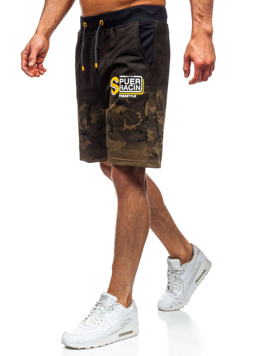 Pantaloni scurți de trening kaki Bolf KK300151 imagine