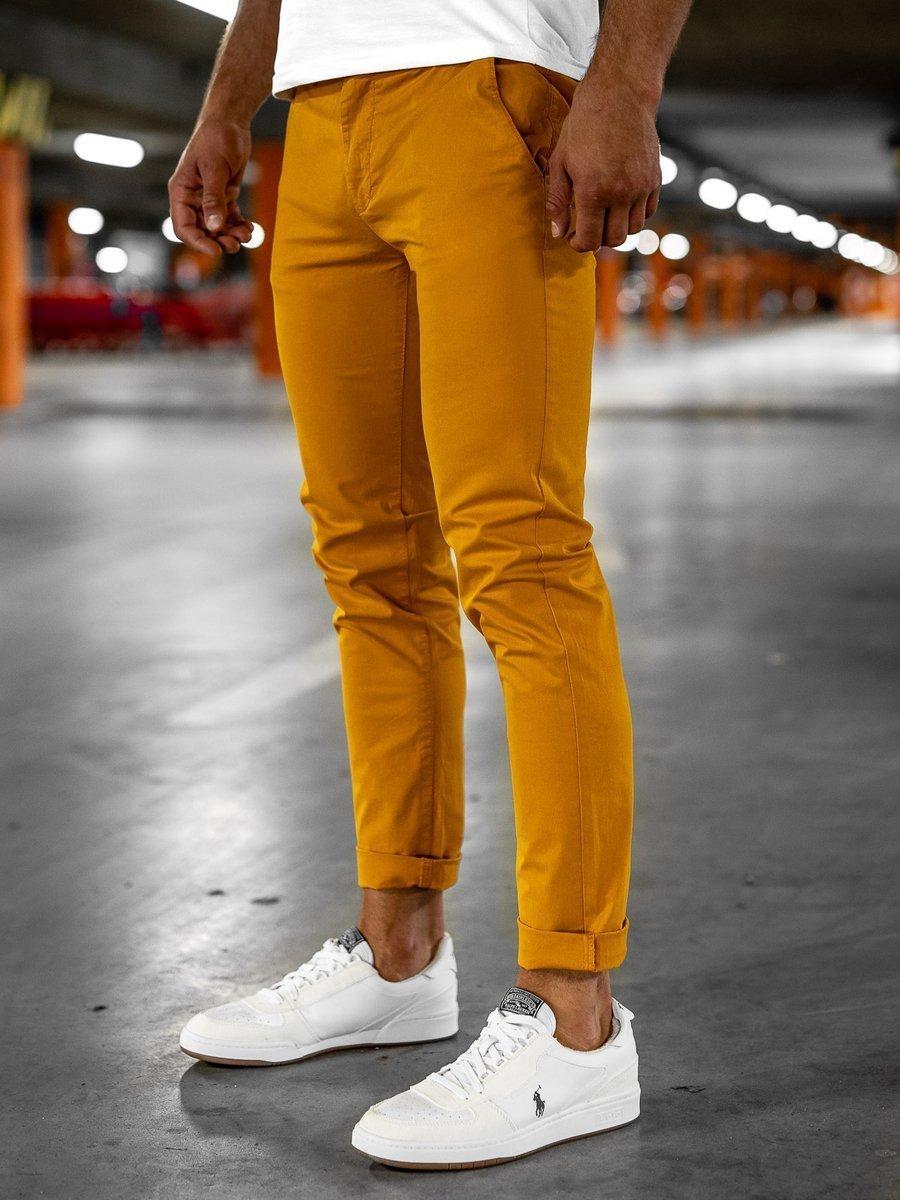 Pantaloni chinos portocaliu bărbați Bolf 1146