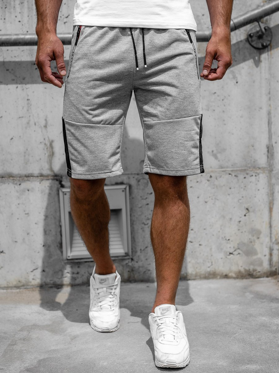 Pantaloni scurți gri bărbați Bolf JX385 imagine