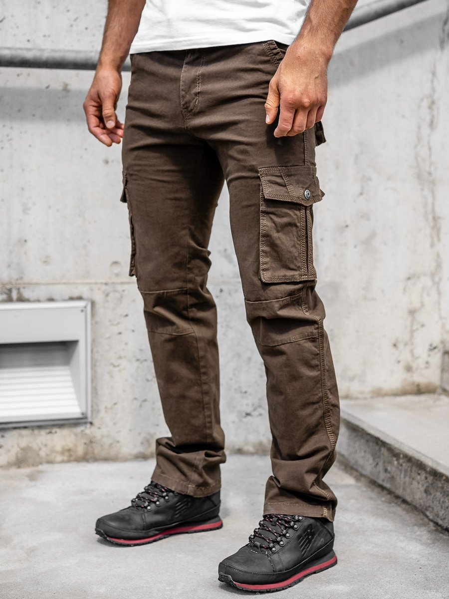 Pantaloni cargo maro bărbați Bolf 8813 imagine