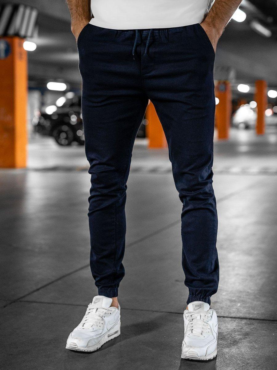 Pantaloni bleumarin joggers Bolf 0905