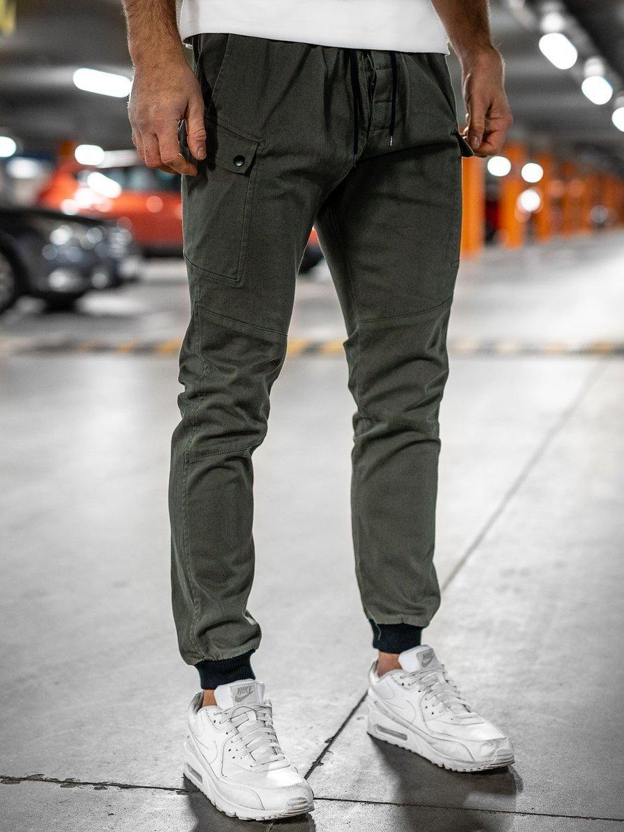 Pantaloni verzi joggers Bolf B11103 imagine