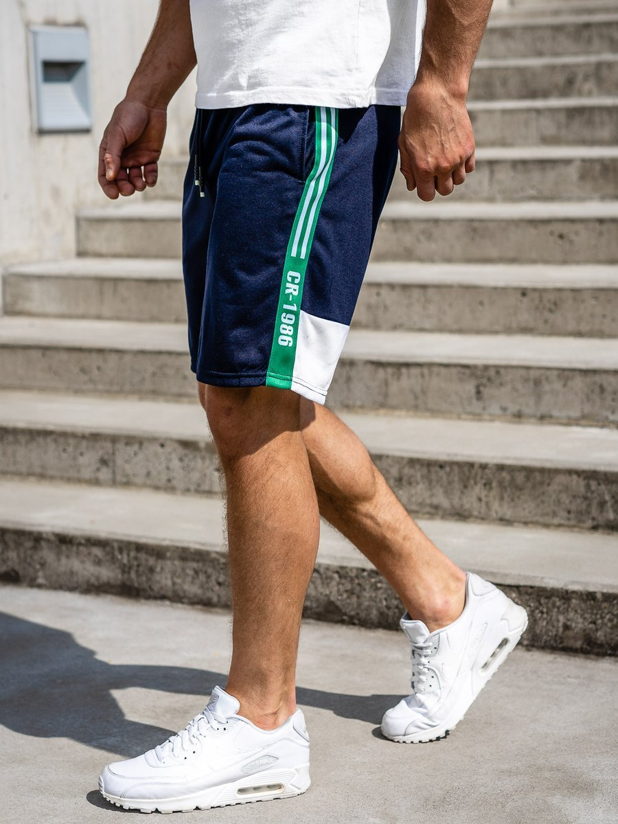 Pantaloni scurți de trening bleumarin Bolf KS2501 imagine