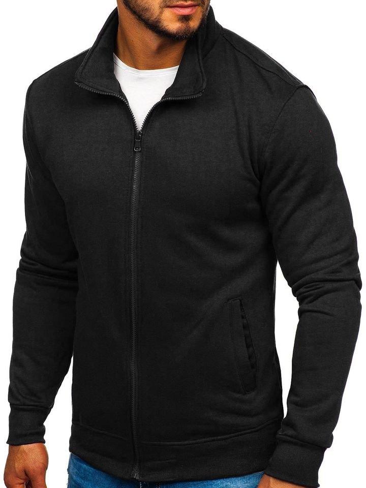 Bluză cu fermoar neagră Bolf B002