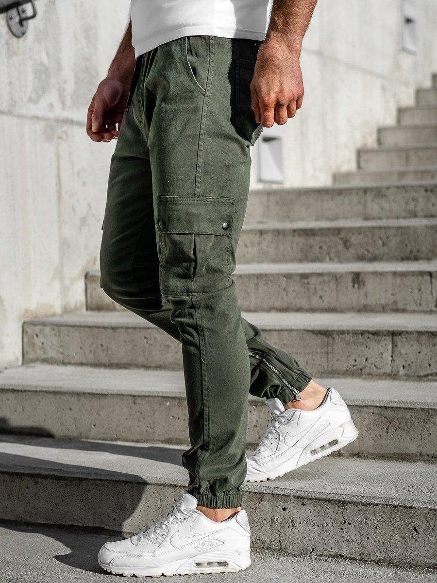 Pantaloni jogger bărbat kaki Bolf 0858