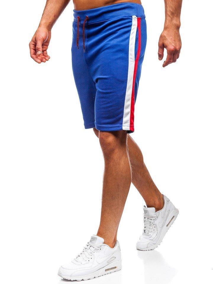 Pantaloni scurți de trening bărbați albastru Bolf 81015