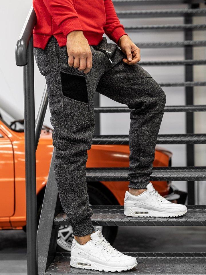 Pantaloni de trening bărbați negru Bolf TC840