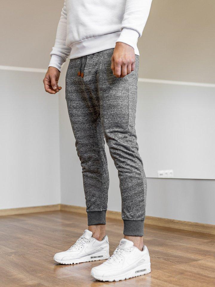 Pantaloni pentru bărbați sportivi jogger grafit Bolf Q5001
