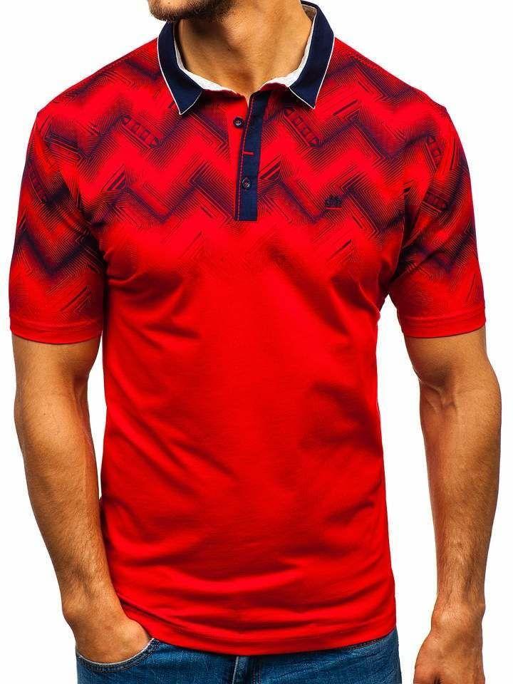 Tricou polo bărbați roșu Bolf 6601 imagine