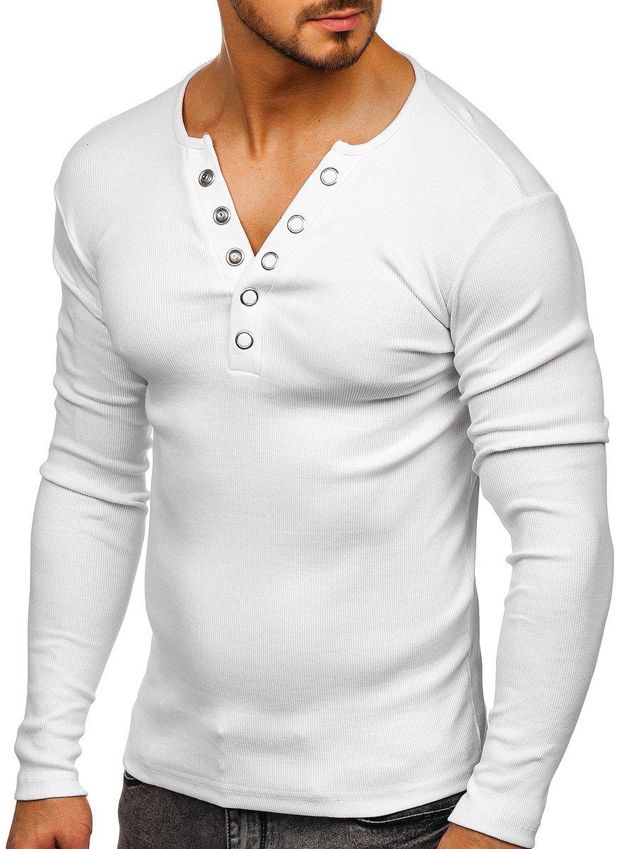 Bluză bărbați albă Bolf 145362 imagine