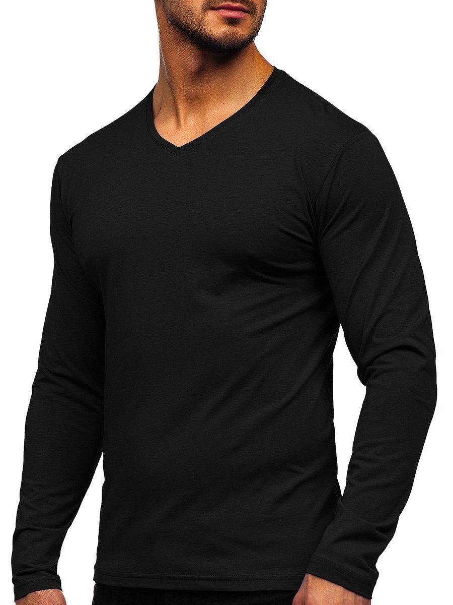 Bluză cu decolteu neagră Bolf 172008 imagine