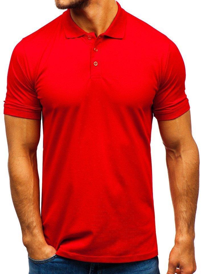 Tricou polo bărbați roșu Bolf 9025 imagine