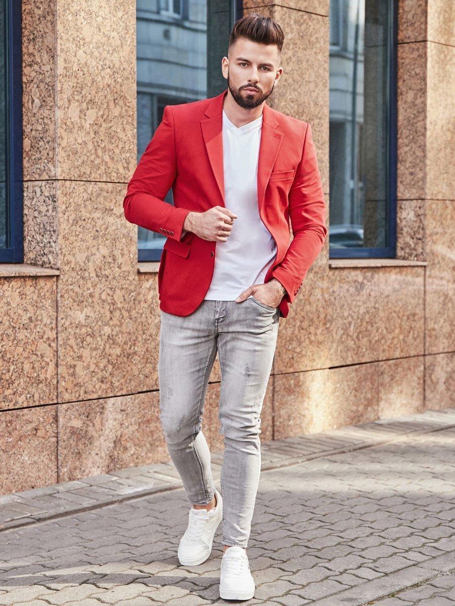 Sacou elegant bărbați roșie Bolf SR2003 imagine