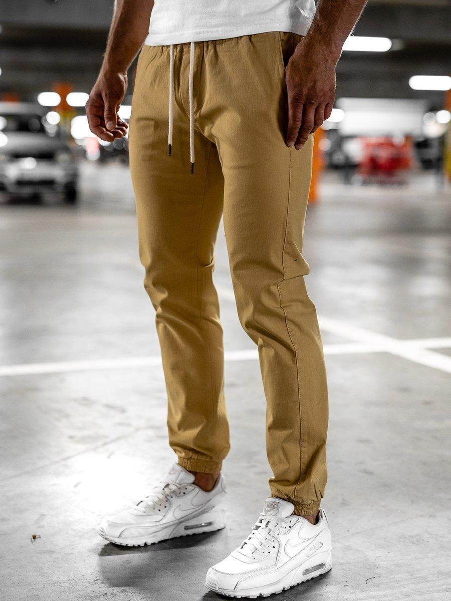 Pantaloni joggers bej Bolf 1145