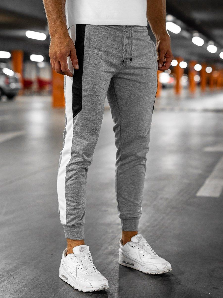 Pantaloni de trening joggers gri Bolf HL8985