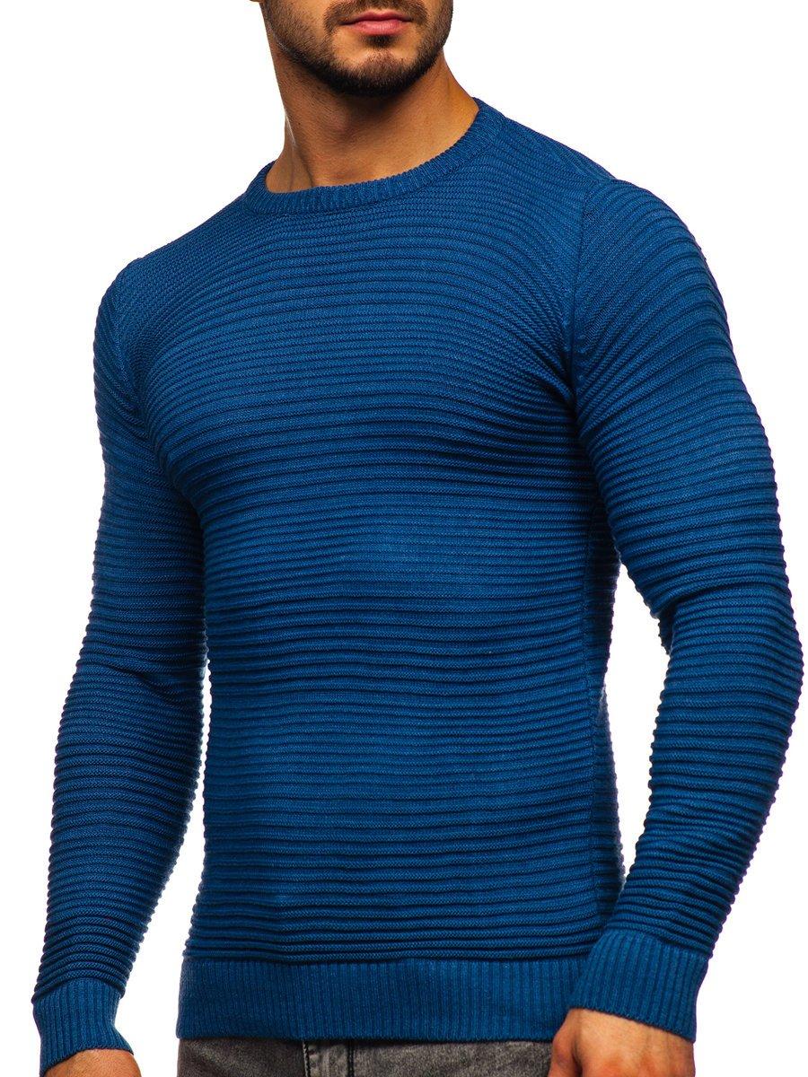Pulover albastru bărbați Bolf 4608 imagine