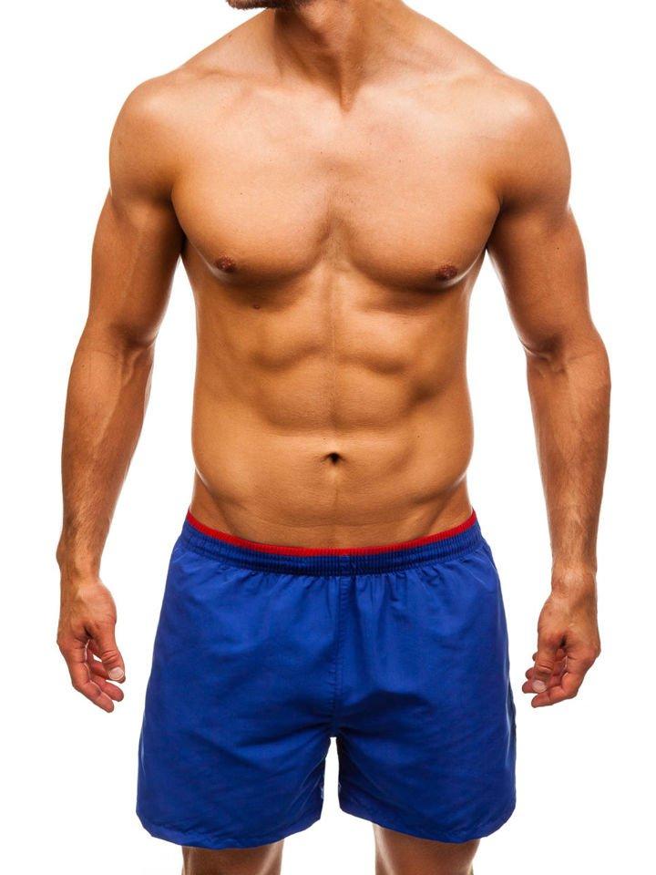 Pantaloni scurți de înot pentru bărbat albaștri Bolf Y768 imagine