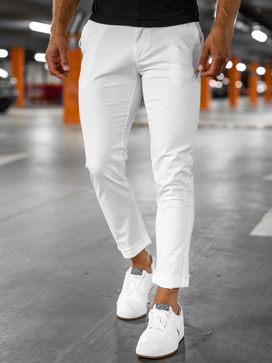 Pantaloni chinos albi Bolf 1146-1