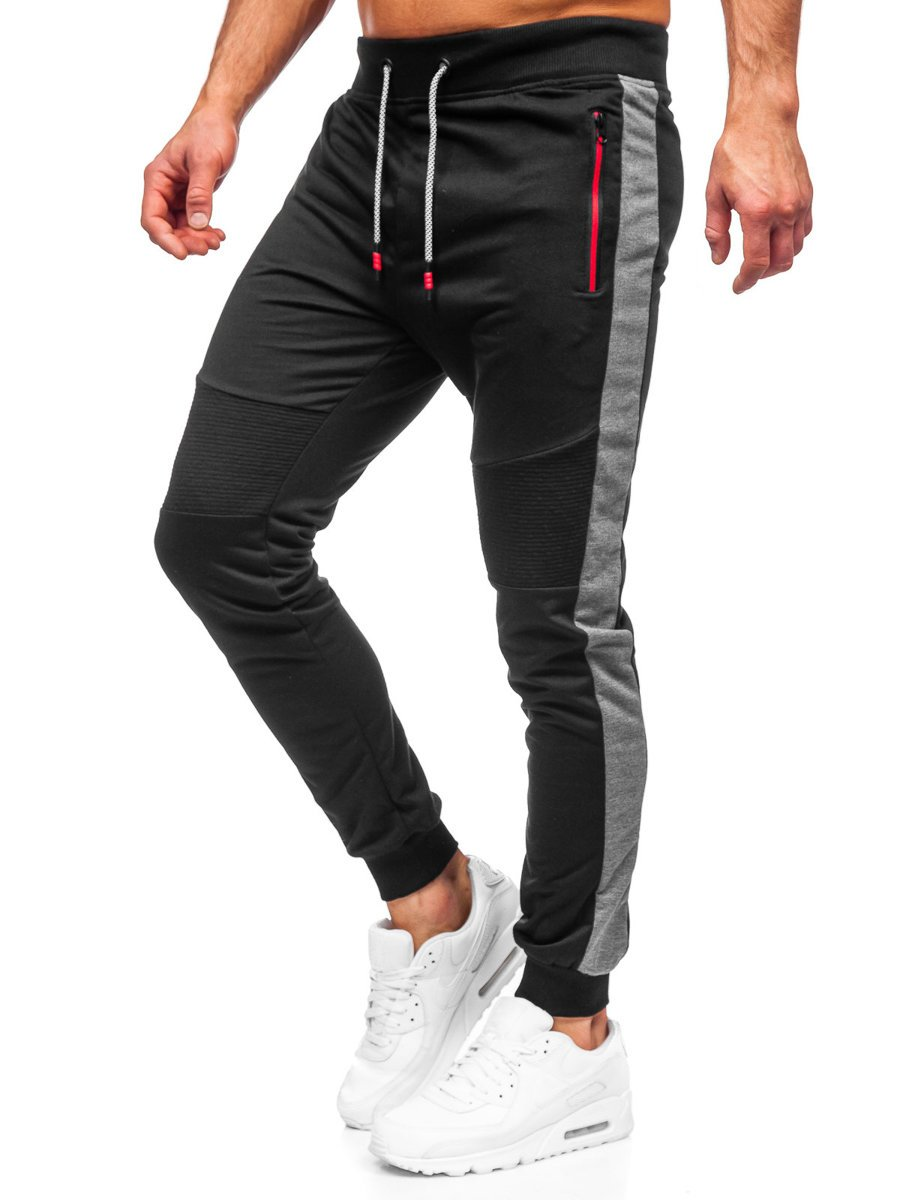 Pantaloni de trening negri Bolf K10205