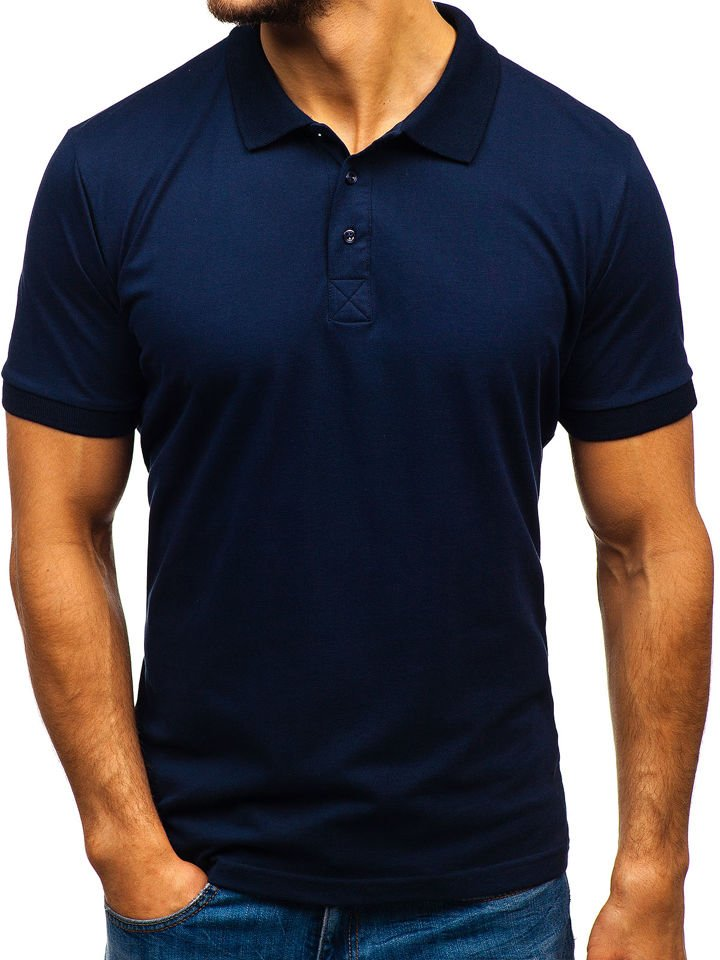 Tricou polo bărbat bleumarin Bolf 171221 imagine