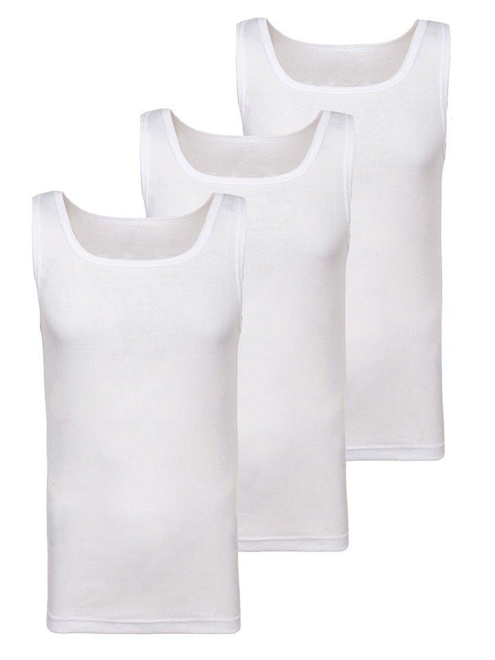 Maiou pentru bărbați fără imprimeu alb 3 Pack Bolf C10049-3P