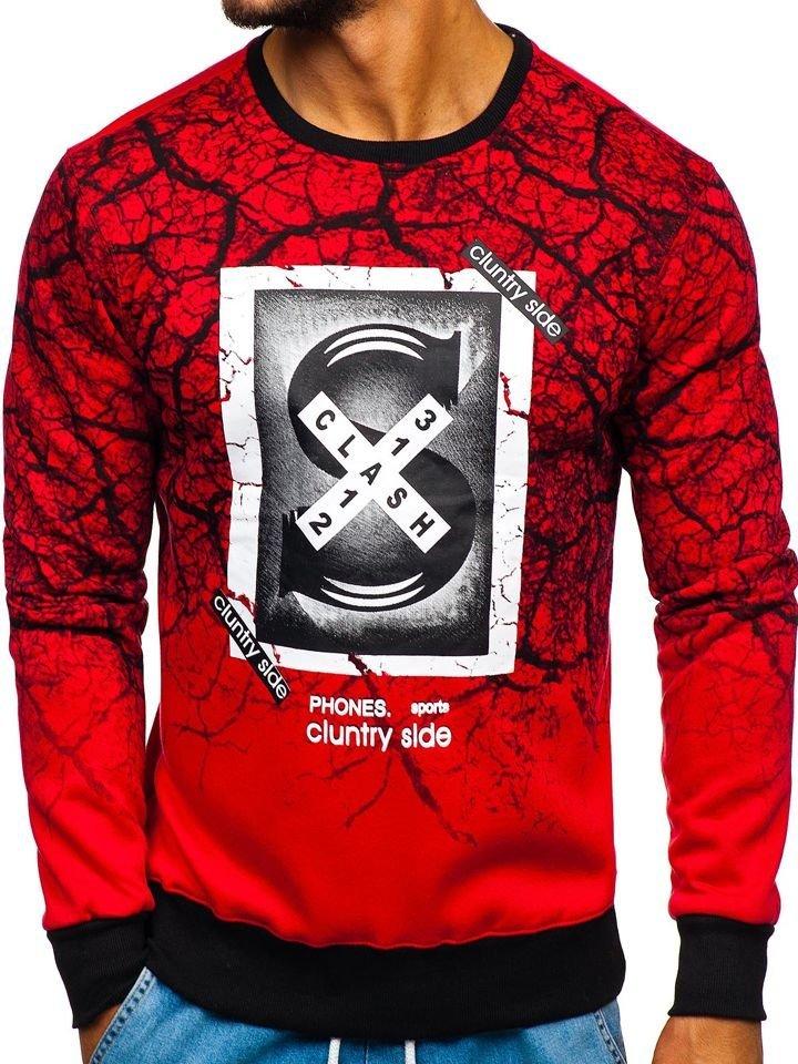 Bluză cu imprimeu bărbați roșu Bolf DD685 imagine