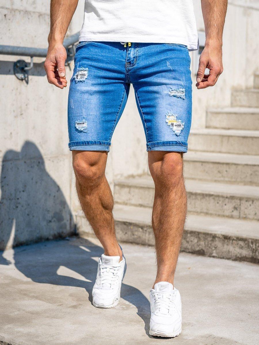 Pantaloni scurți de blugi bleumarin Bolf KG3809 imagine