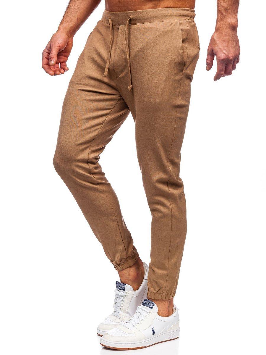 Pantaloni joggers camel Bolf 0011 imagine