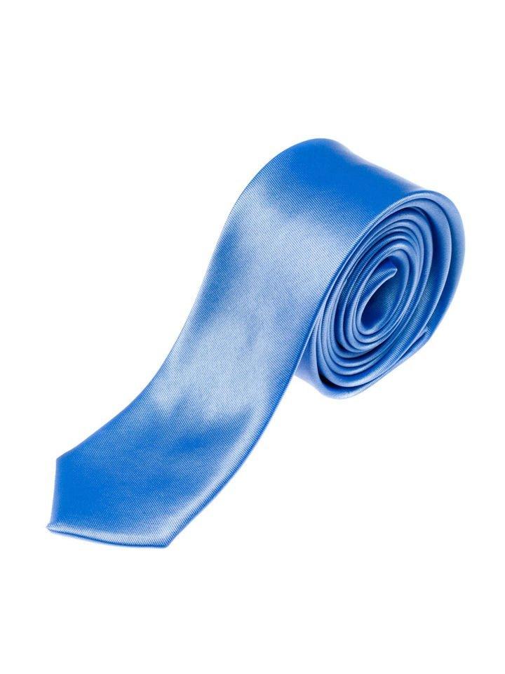Cravată elegantă pentru bărbat albastru-deschis Bolf K001