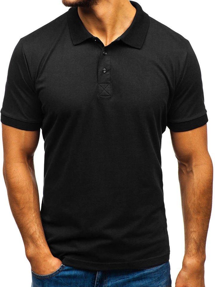 Tricou polo bărbați negru Bolf 171221-1 imagine
