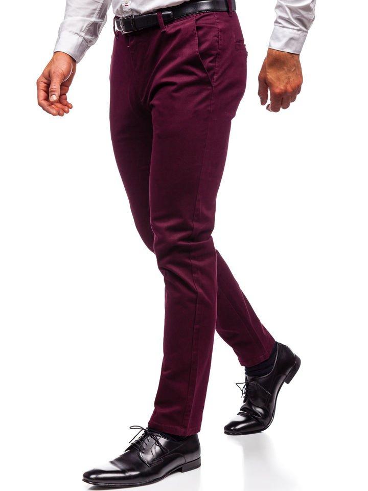 Pantaloni chino bărbați bordo Bolf 1120