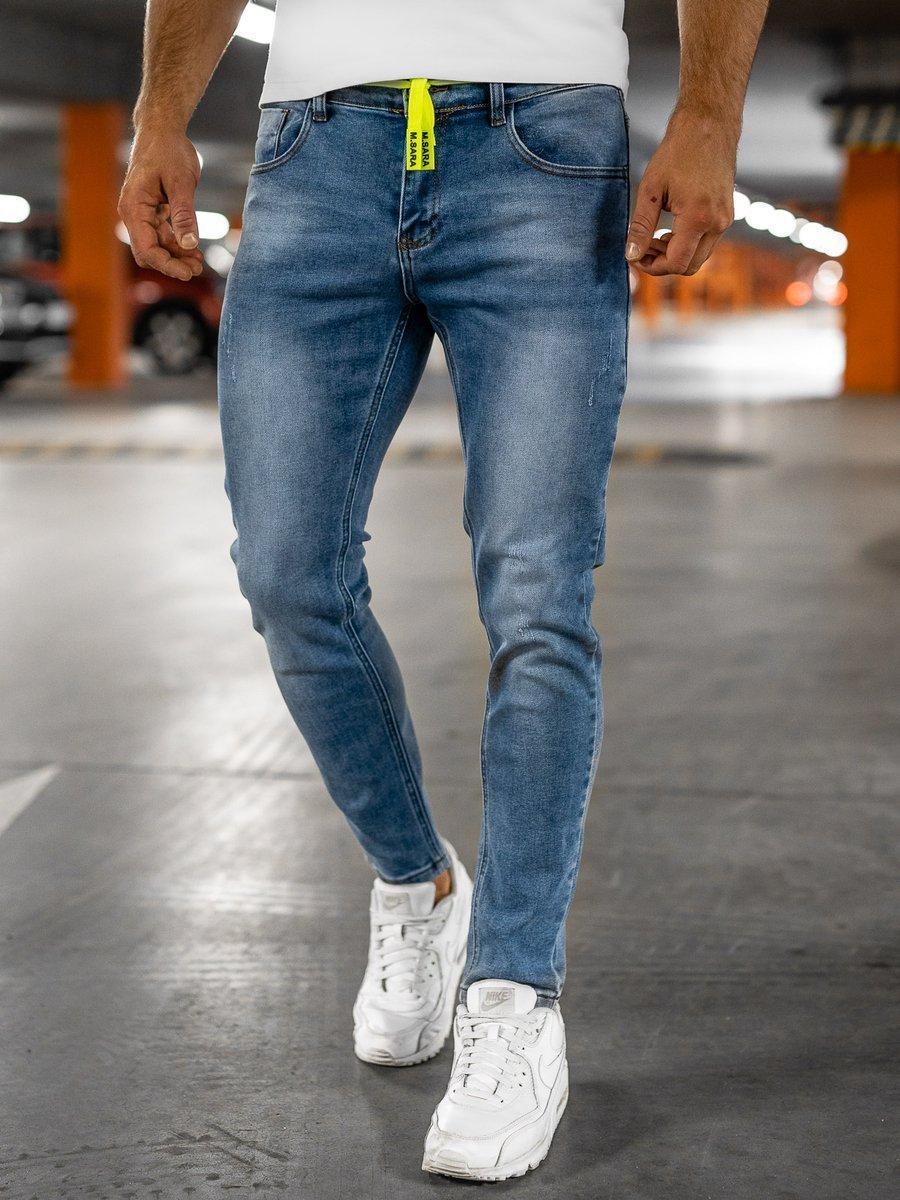 Blugi bleumarin bărbati skinny fit Bolf KX565 imagine