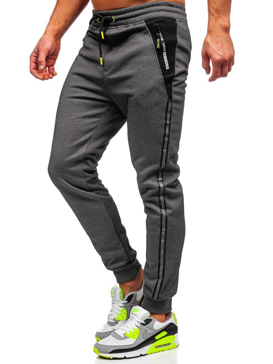 Pantaloni de trening gri Bolf TC1003