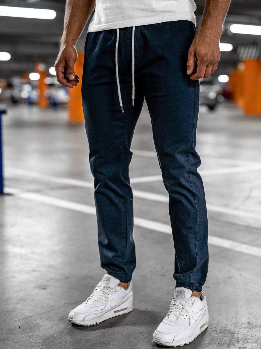 Pantaloni joggers bleumarin-închis Bolf 1145