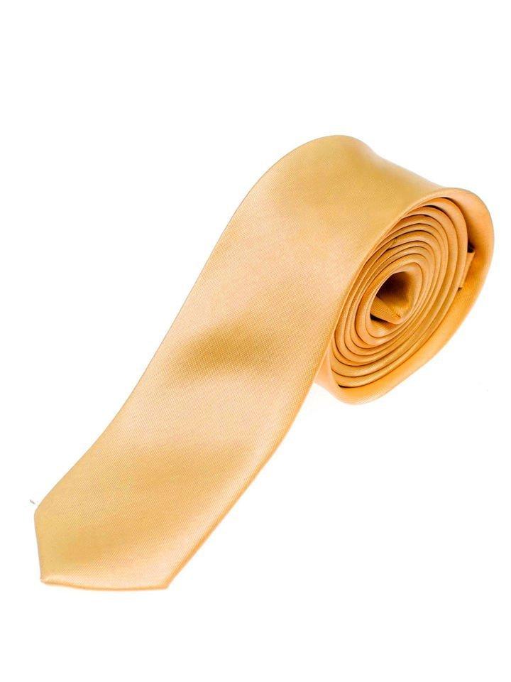 Cravată elegantă pentru bărbat portocalie Bolf K001 imagine
