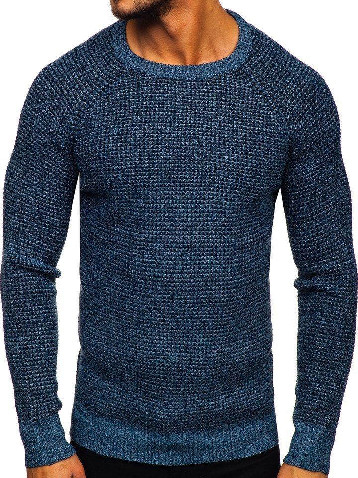 Pulover bărbați albastru Bolf H1932