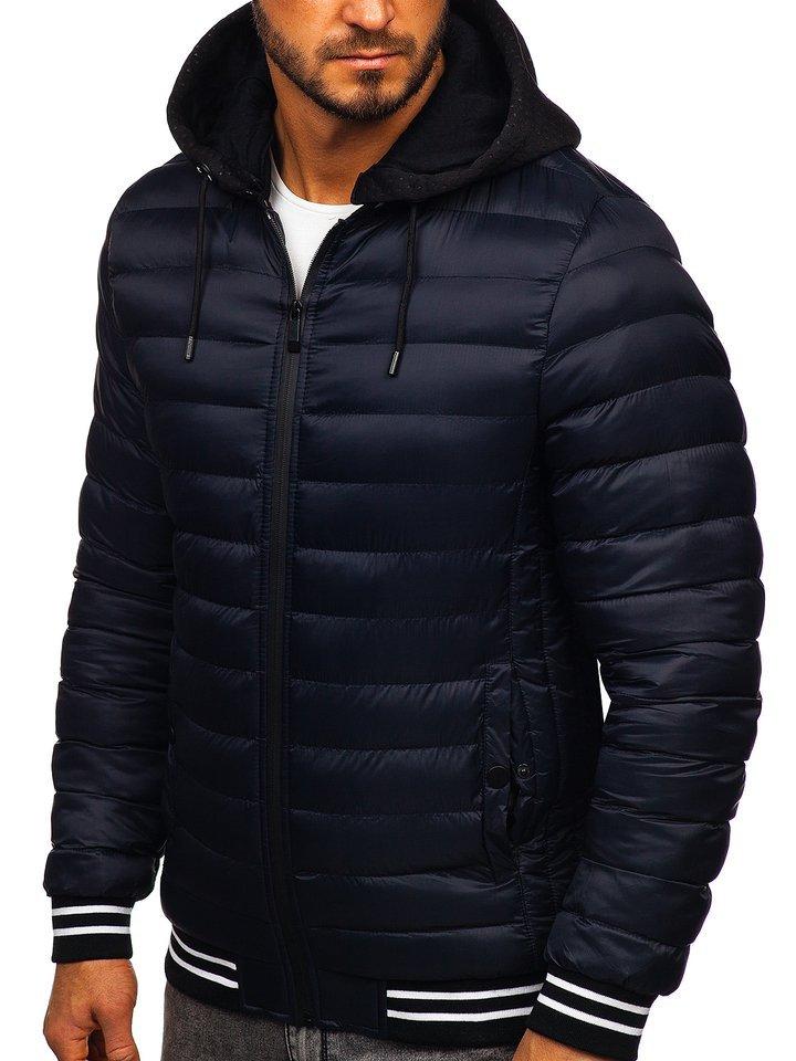 Geacă de iarnă bleumarin Bolf 5331