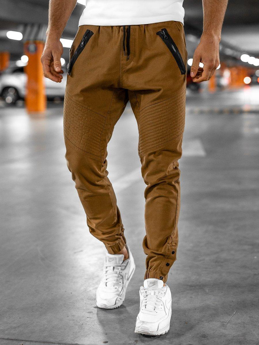 Pantaloni joggers bărbați camel Bolf 0952 imagine