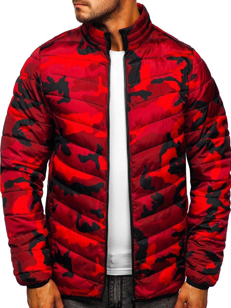 Geacă de iarnă sport army-roșu SM32 imagine