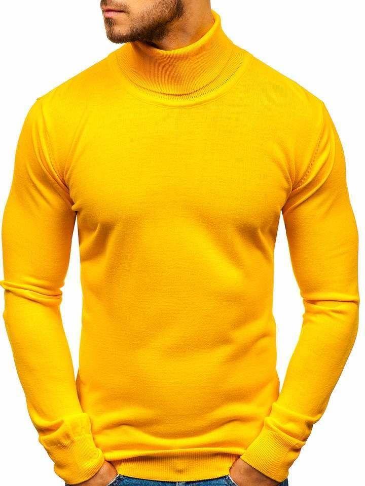 Pulover bărbați galben Bolf 2400 imagine