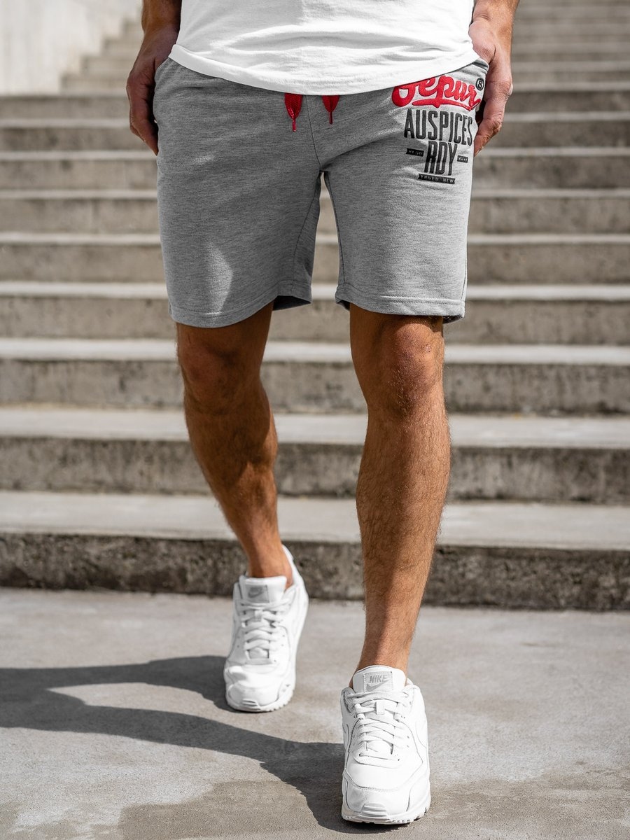 Pantaloni scurți de trening gri bărbați Bolf EX07-1 imagine