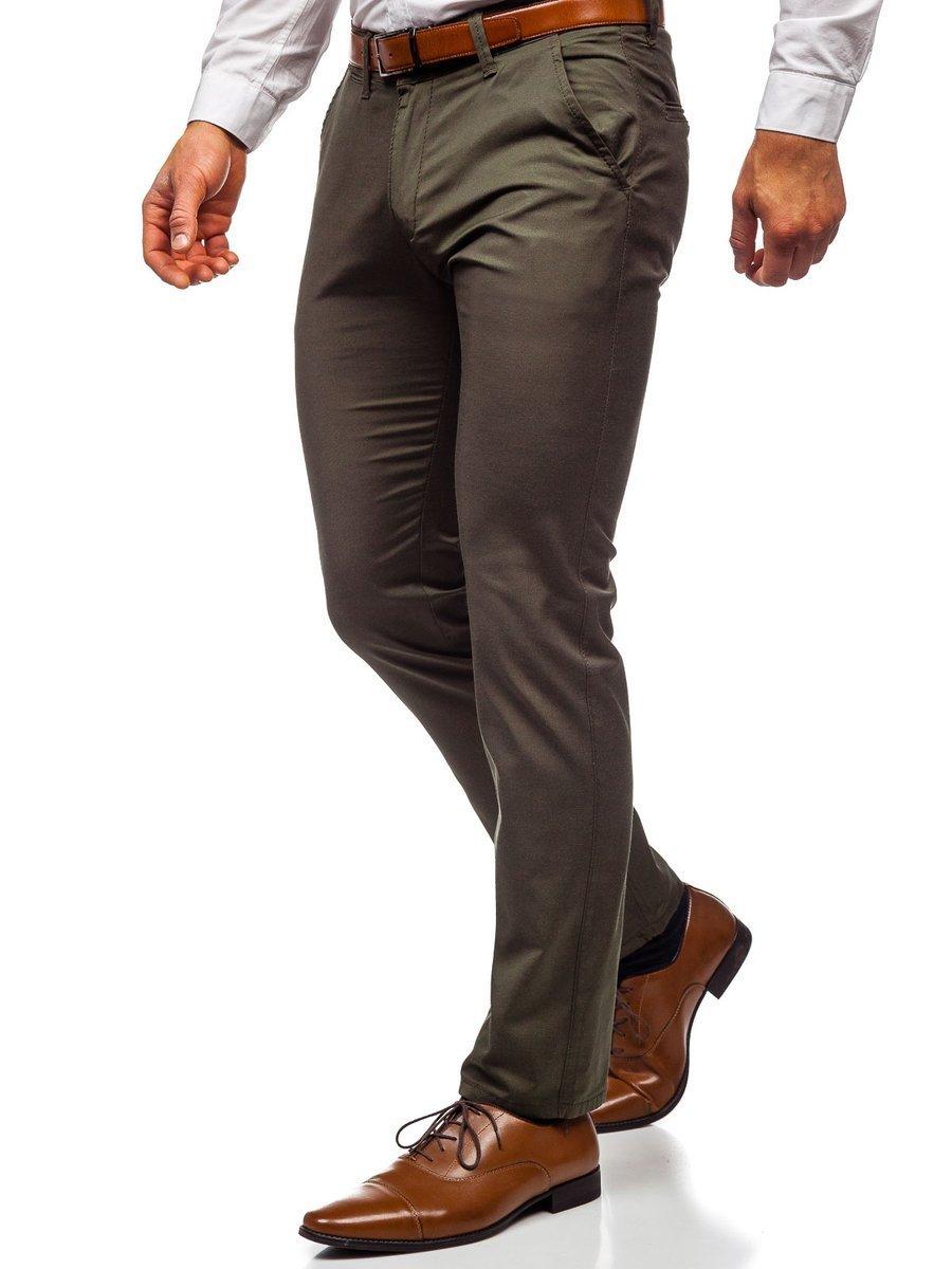 Pantaloni chinos verzi bărbați Bolf KA1786P imagine