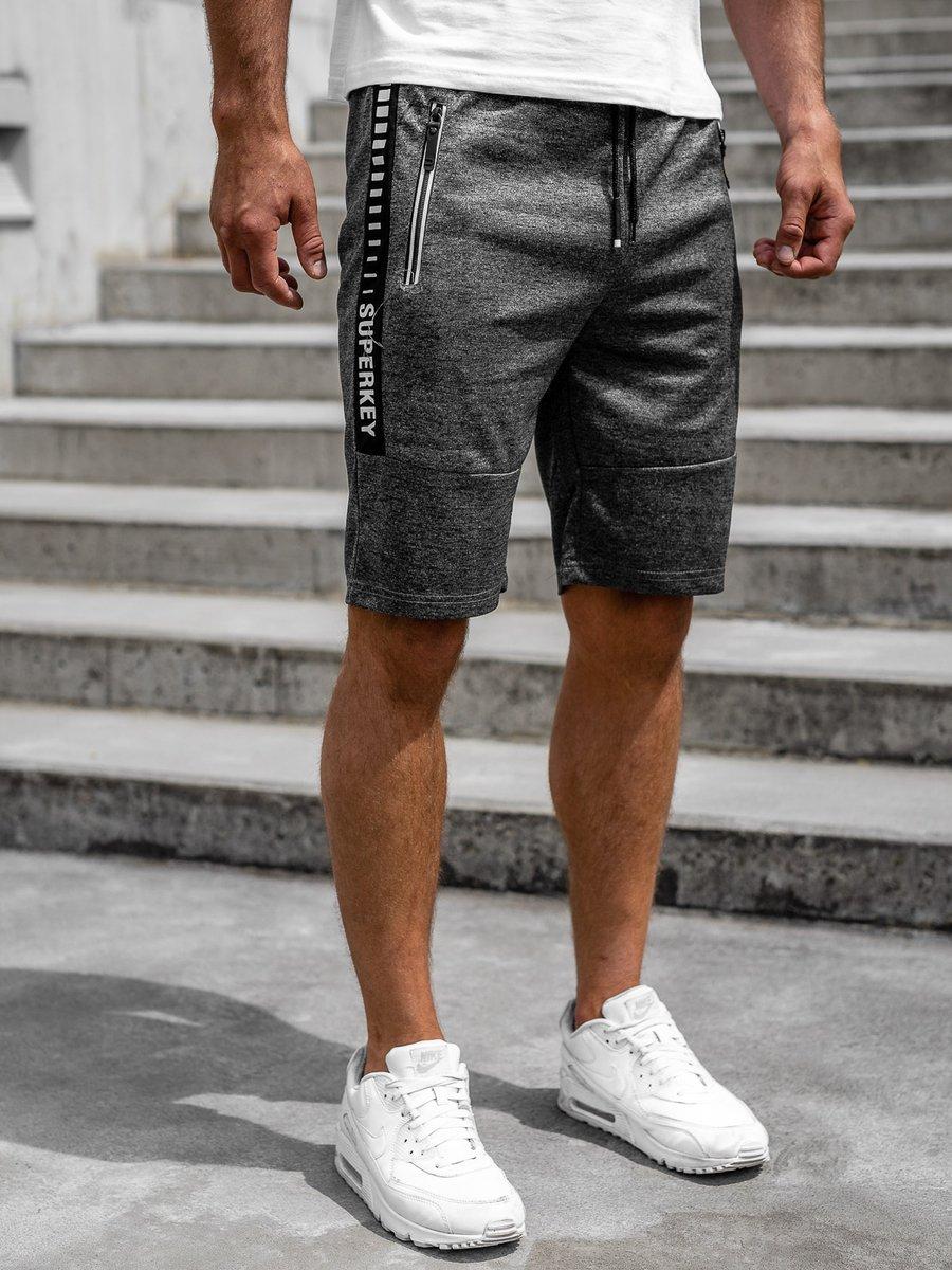 Pantaloni scurți grafit bărbați Bolf JX383 imagine